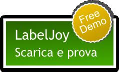scarica e prova gratuitamente Labeljoy