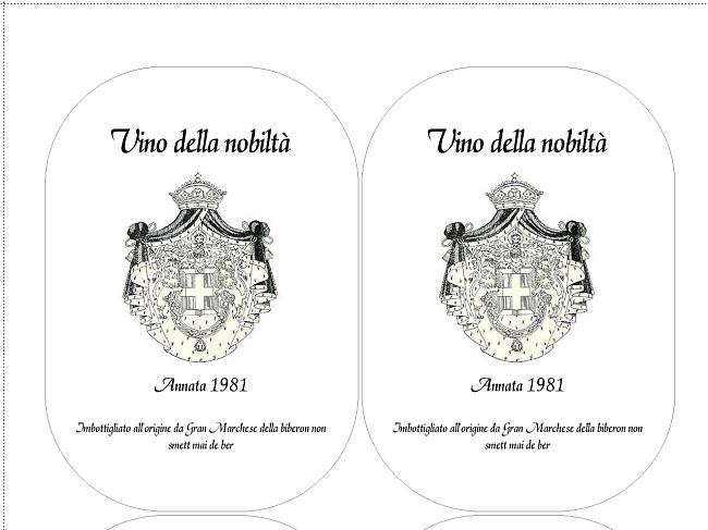 Amato Etichette Vino - creazione e stampa SM44