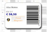 Etichetta barcode professionale