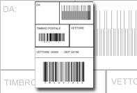 Etichetta barcode industriale