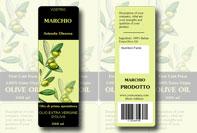 Etichetta bottiglia olio