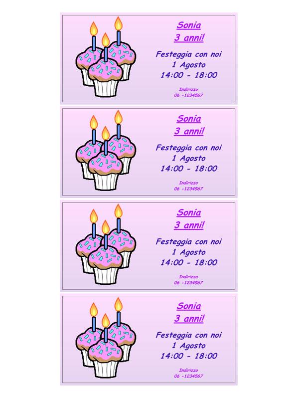 spesso Inviti di Compleanno da stampare LD15