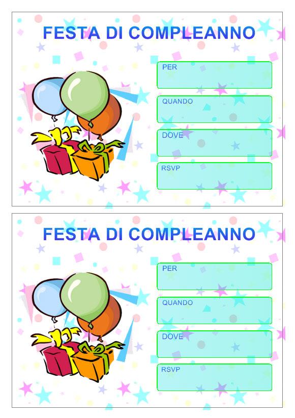 Super Inviti di Compleanno da stampare XS31
