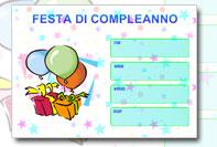 Biglietto invito compleanno da stampare