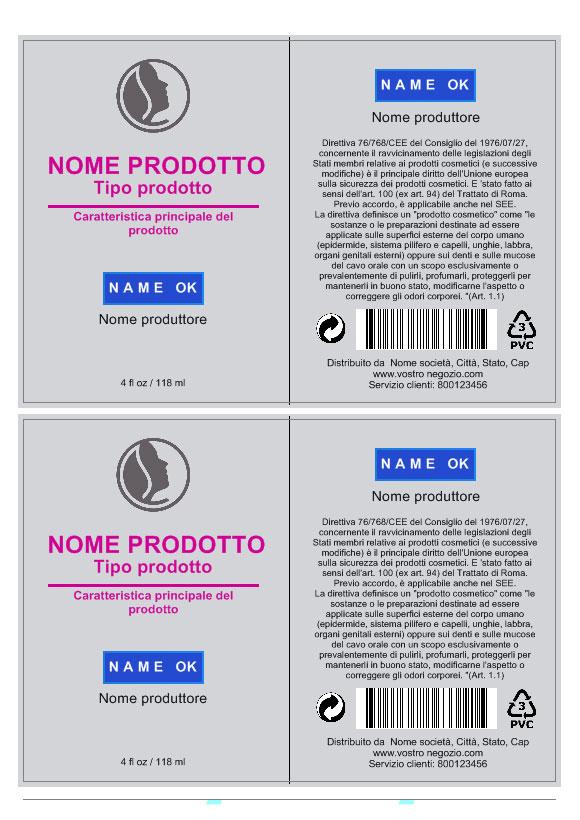 Favorito Crea Etichette per cosmetici LO59