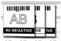 Etichetta laboratorio gruppo sanguigno