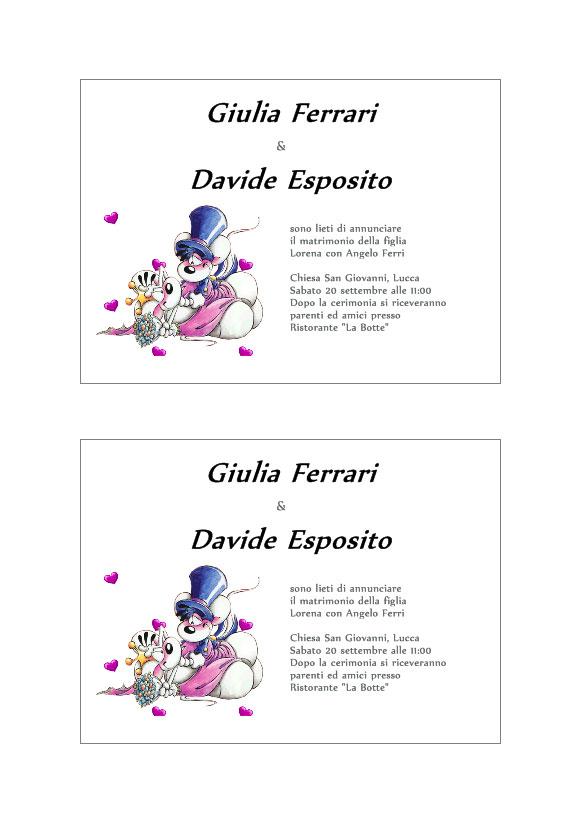 Creare Partecipazioni Matrimonio Da Stampare.Inviti Matrimonio Software Per Stampa Etichette Adesive