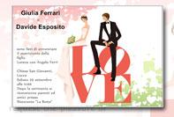 Biglietto invito partecipazioni matrimonio 2