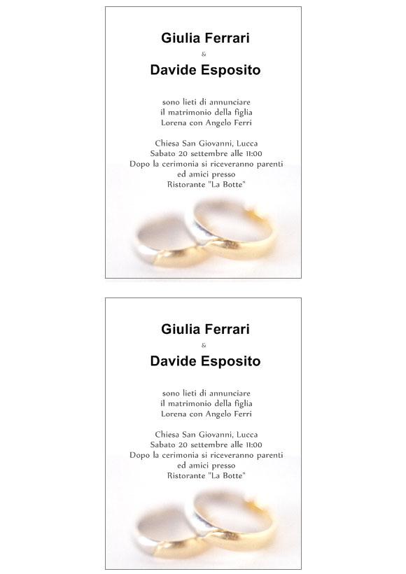 Favorito Inviti matrimonio da stampare CO51