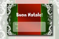 Etichetta Natale personalizzata