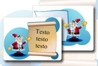 Etichetta Natale da stampare