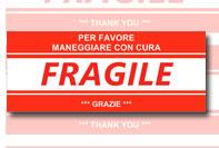 Etichetta pacco fragile