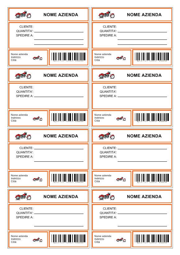 Popolare Etichetta pacco | Creare etichette da applicare sui pacchi RZ69