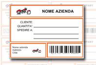 Etichetta pacco personalizzata