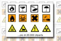 Etichetta pacco segnali pericolo