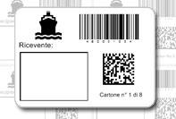 Etichetta pacco spedizione navale
