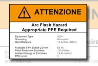 Etichetta pericolo Warning