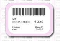 Etichetta prezzo bookstore