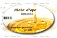 Etichetta prodotto alimentare