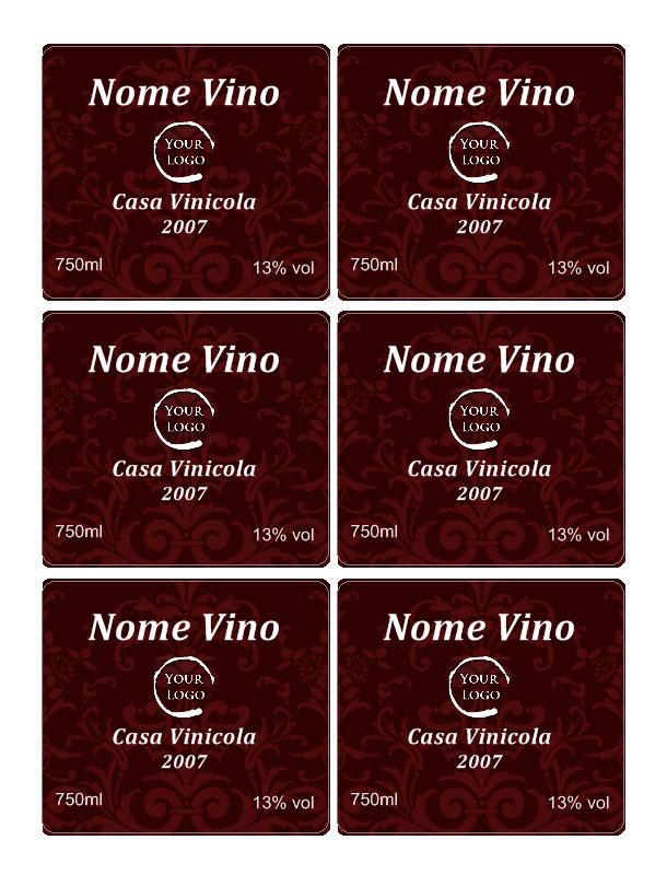 Super Etichette vino personalizzate CJ26