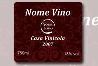 Etichetta per bottiglia di vino
