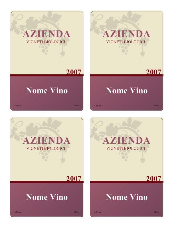 abbastanza Etichette vino personalizzate YJ78