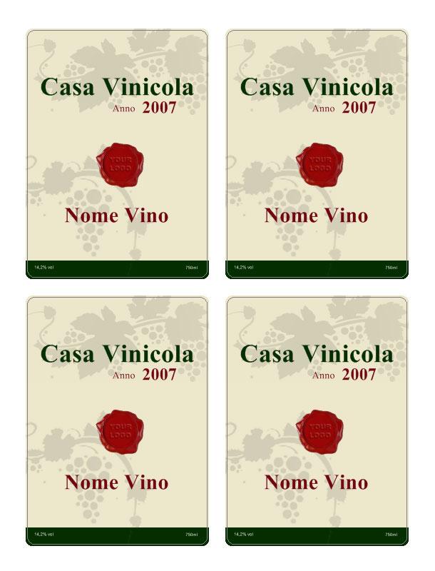 programma per creare etichette per bottiglie di vino da