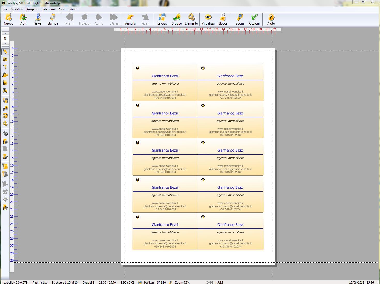 Programma per codici a barre stampa etichette stamapre for Layout di casa personalizzati